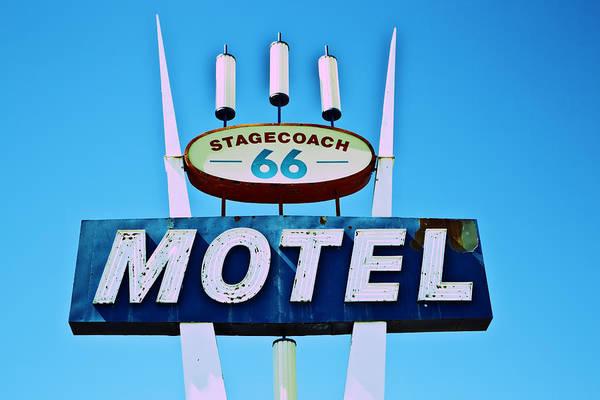 Stagecoach 66 Motel Art Print