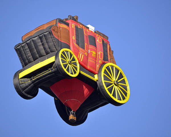 Photograph - Stagecoach In The Sky by AJ  Schibig