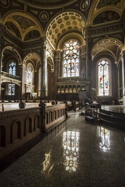 Photograph - Stain Glass Windows And Reflections by Sven Brogren