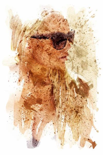Blondie Digital Art - Stained Blonde by Andrea Barbieri