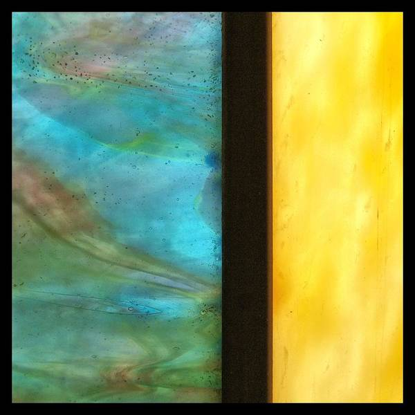 Frosted Glass Photograph - Stained Glass 1 Border by Tom Druin