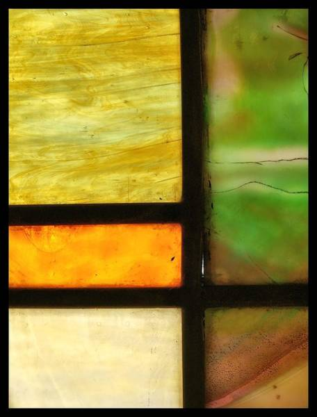Frosted Glass Photograph - Stained Glass 5 by Tom Druin