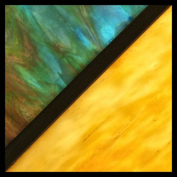 Frosted Glass Photograph - Stained Glass Border by Tom Druin