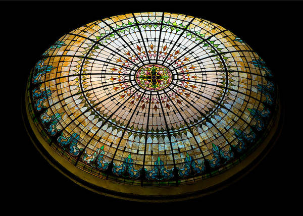Stained Glass Dome - 1 Art Print