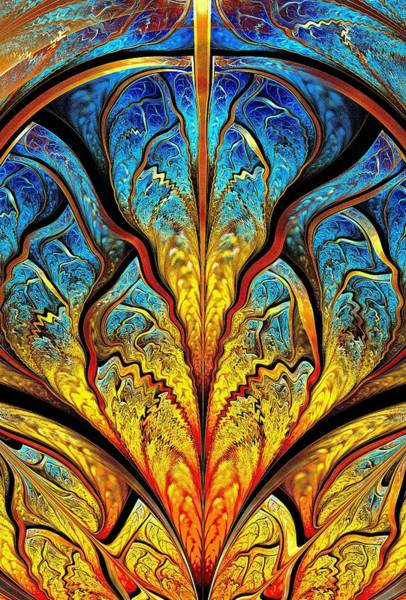 Digital Art - Stained Glass Expression by Anastasiya Malakhova