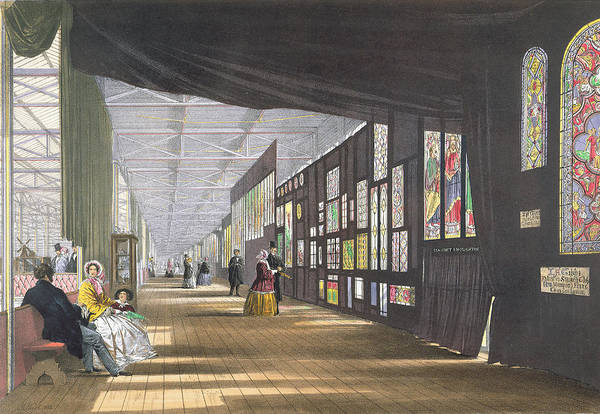 Palace Drawing - Stained Glass Gallery, From Dickinsons by English School
