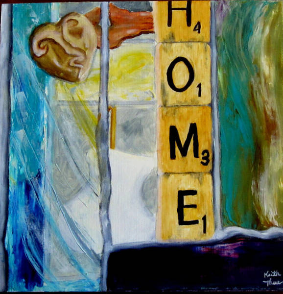 Painting - Stained Glass Home by Keith Thue