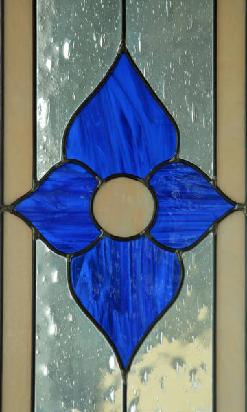 Photograph - Stained Glass In Blue by E Faithe Lester