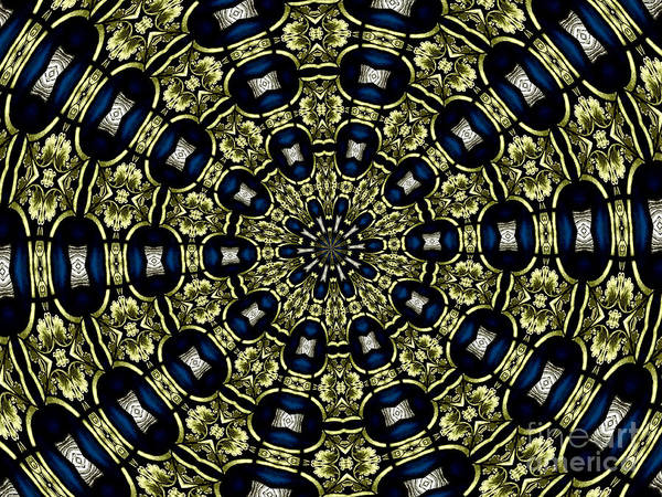 Photograph - Stained Glass Kaleidoscope 01 by Rose Santuci-Sofranko