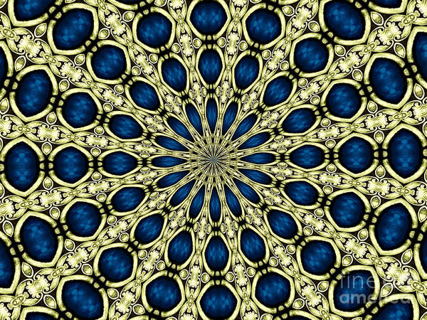 Photograph - Stained Glass Kaleidoscope 03 by Rose Santuci-Sofranko