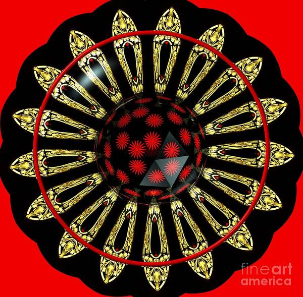 Photograph - Stained Glass Kaleidoscope Under Glass by Rose Santuci-Sofranko