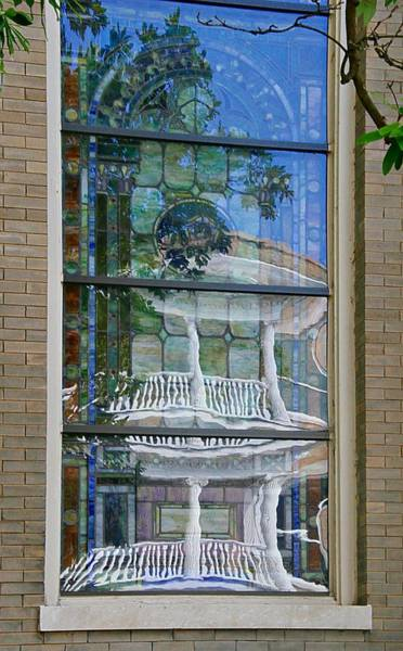 Photograph - Stained Glass Reflection by Sharon Popek