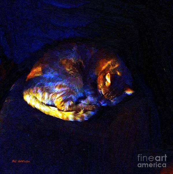 Painting - Stained Glass Snoozer by RC DeWinter