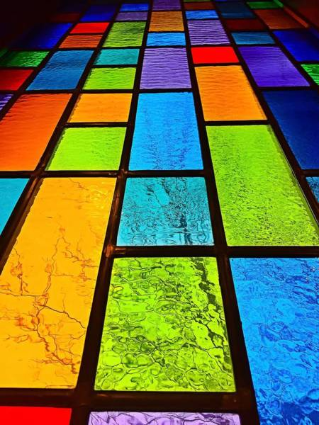 Photograph - Stained Glass Window by Chris Montcalmo