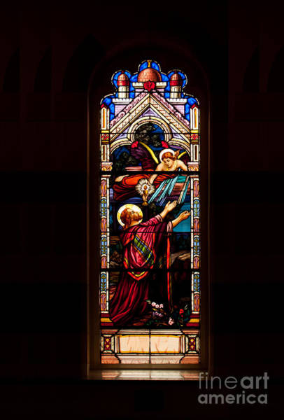 Photograph - Stained Glass Window by Les Palenik