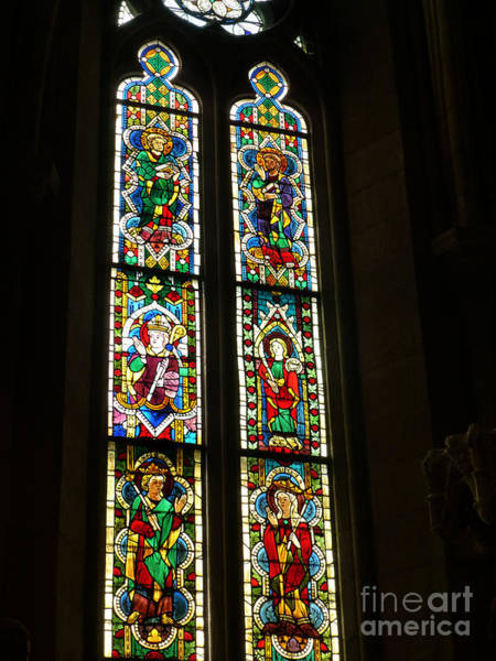 Photograph - Stained Glass Windows by Steven Spak