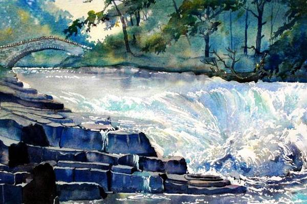 Painting - Stainforth Foss by Glenn Marshall