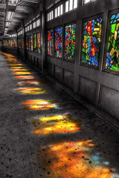 High Dynamic Range Digital Art - Stains In The Path by William Fields