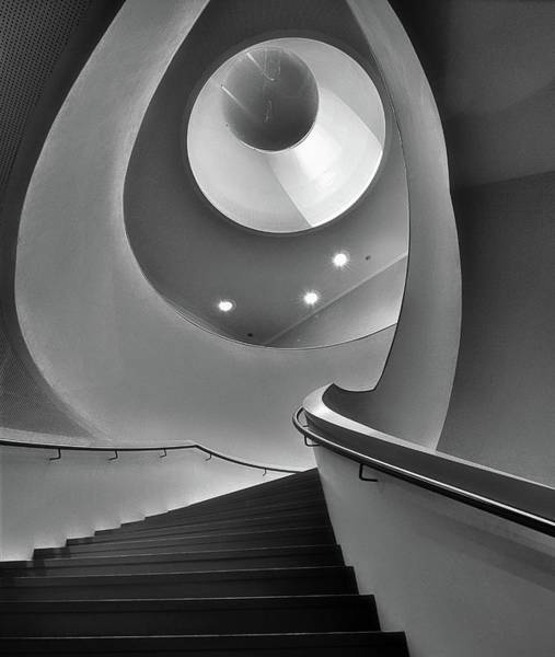 Ceiling Photograph - Stair by Henk Van Maastricht