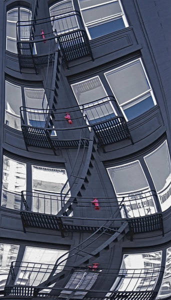 Wall Art - Photograph - Staircase Distortion by Steve Ohlsen