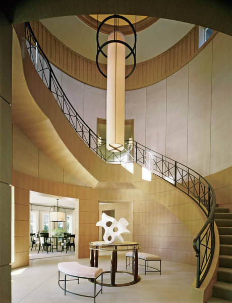 Spiral Photograph - Staircase In Luxurious House by Durston Saylor