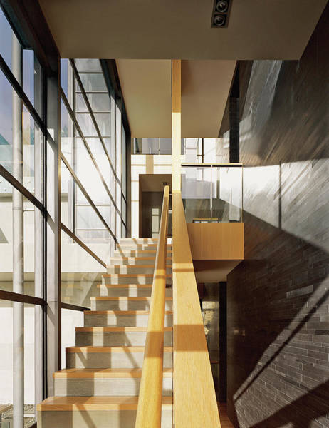 No People Photograph - Staircase In Office Block by Erhard Pfeiffer