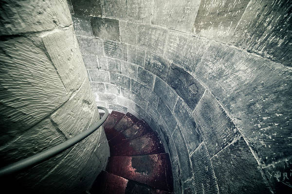 Brick Gothic Photograph - Staircase Inside A Castle by Leopatrizi