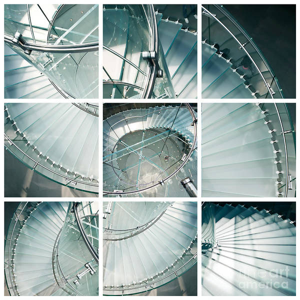 Mosaic Photograph - Staircase Jigsaw by Delphimages Photo Creations