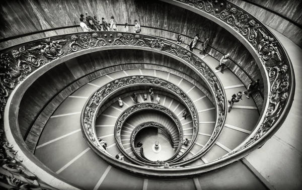 Museum Photograph - Staircase by Renate Reichert