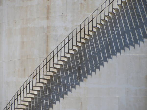 Photograph - Stairs And Shadows 1 by Anita Burgermeister