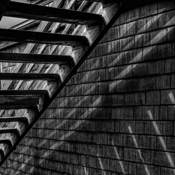 Black And White Abstract Photograph - Stairs by David Patterson