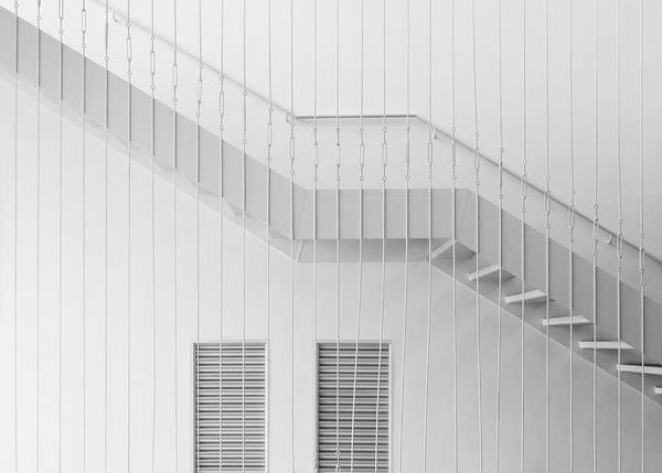 High Key Wall Art - Photograph - Stairs by Dong Hee Han
