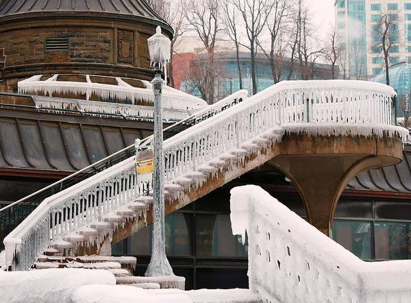 Photograph - Stairs Of Ice by Al Fritz