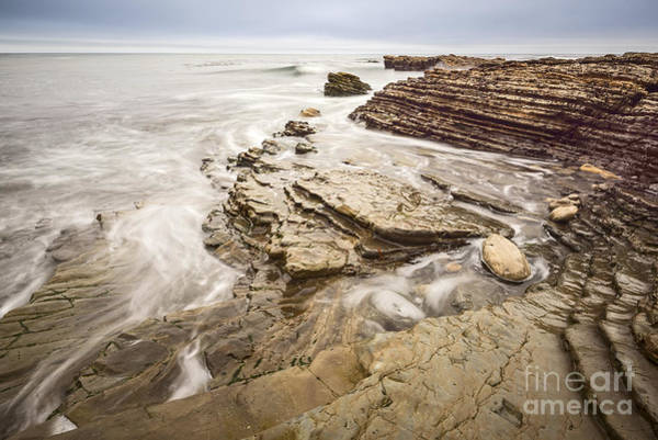 Montana State Photograph - Stairs Of Time - The Jagged Rocks Montana De Oro State Park by Jamie Pham