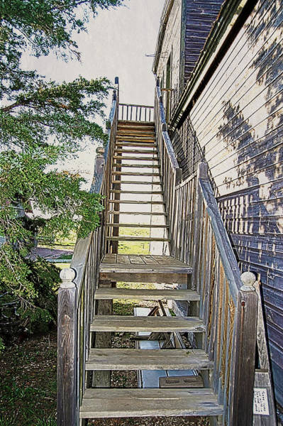 Photograph - Stairs To Docs Door by Judy Hall-Folde