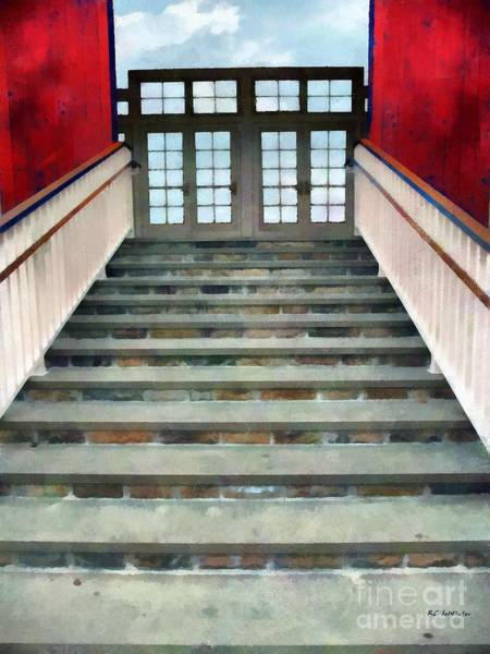 Painting - Stairs To The Barn by RC DeWinter