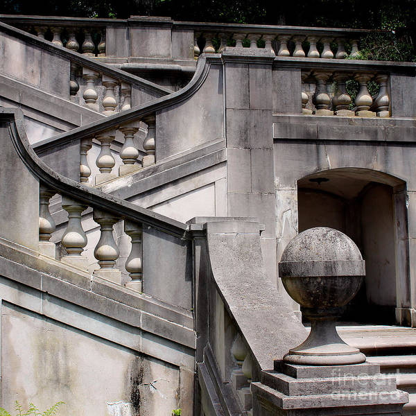 Baluster Wall Art - Photograph - Stairway At Winterthur by Karen Adams