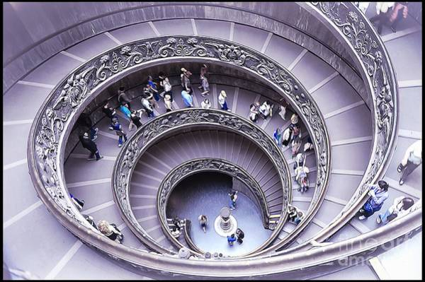 Vatican Painting - Stairway In Vatican Museum by Stefano Senise