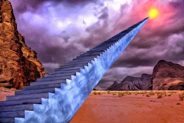 Stairway To Heaven Wall Art - Painting - Stairway To Heaven by Dominic Piperata