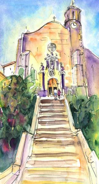 Spanish People Drawing - Stairway To Heaven In Llansa by Miki De Goodaboom