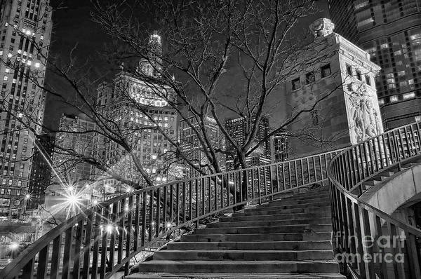 Michigan Ave Photograph - Stairway To Home by Jeff Lewis