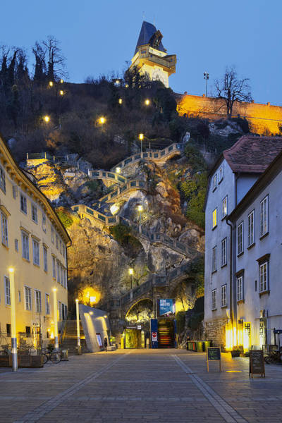 Photograph - Stairway To The Graz Clock Tower by Ivan Slosar