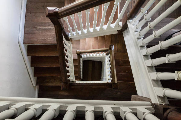 Photograph - Stairwell At Bacons Castle by Jerry Gammon