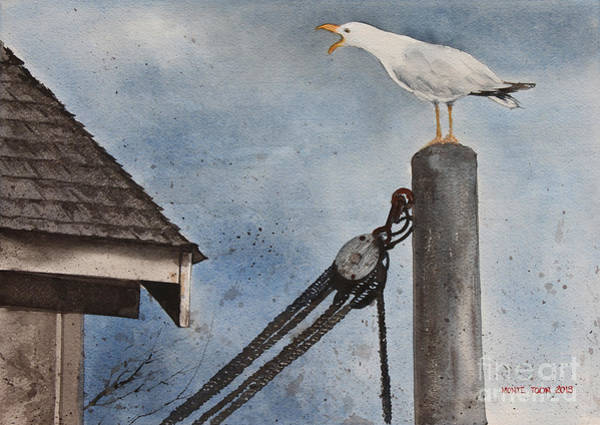 Painting - Staking A Claim by Monte Toon