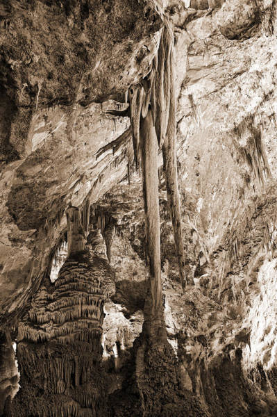 Photograph - Stalactites And Stalagmites by Melany Sarafis