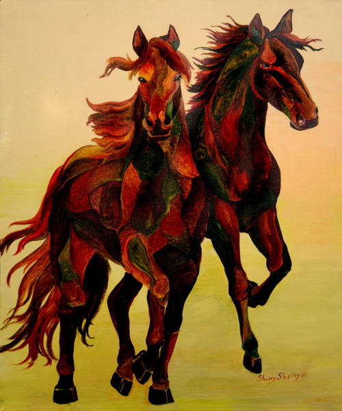 Painting - Stallions by Sherry Shipley