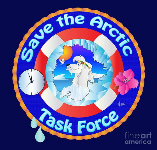 Save The Whales Wall Art - Digital Art - Sta.logo by Martin Stern