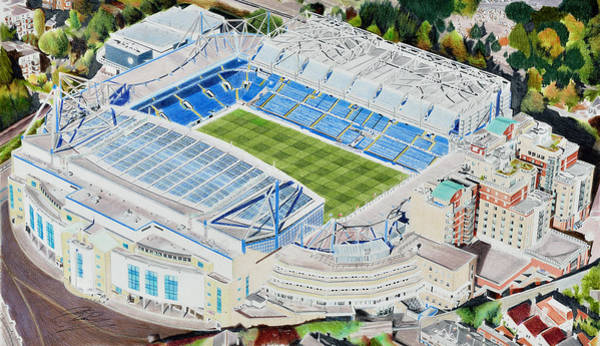 Stamford Wall Art - Painting - Stamford Bridge Stadia Art - Chelsea Fc by Brian Casey