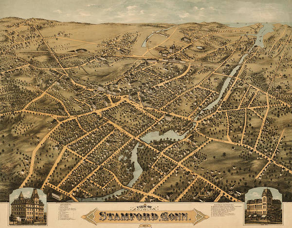 Stamford Photograph - Stamford Connecticut 1875 by Andrew Fare