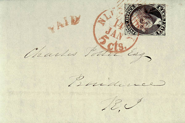 Cursive Photograph - Stamp, 1845 by Granger